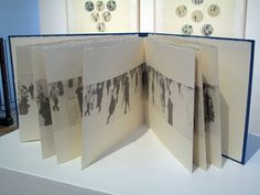 2 Seconds Later by Jill McKeown. Photo-intaglio accordion format artist's book, 29.5cm x 41cm. 2009.