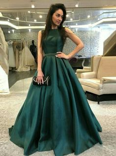 Elegant Prom Dresses, A-Line Bateau Backless Sweep Train Dark Green Prom Dress with Beading Pleats Shop for La Femme prom dresses. Elegant long designer gowns, sexy cocktail dresses, short semi-formal dresses, and party dresses. Fancy Prom Dresses, Dark Green Prom Dresses, Backless Prom Dresses, A Line Prom Dresses, Formal Evening Dresses, Elegant Dresses, Dress Formal, Dress Prom, Dress Long