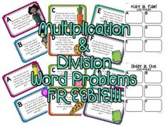 Here's a good set of multiplication and division word problems.