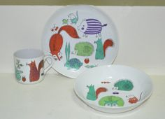 Arabia  Children's Dish Set by LOUIEetMOI on Etsy, $100.00