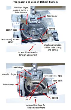 She's A Sewing Machine Mechanic: Drop-in Bobbin Case Position