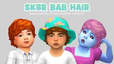 woo i converted that big poofy hair from backyard stuff! looks pretty cute :^) big thankyou to @teanmoon who helped me out!!  • all LODS, shadow etc • base game compatible • all 18 EA swatches • hat compatible DOWNLOAD