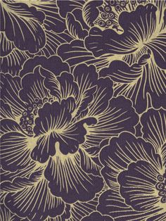Purple and Gold Floral Wallpaper | AmericanBlinds.com