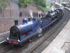 Caledonian 828 and LNWR 'Super D' 49395 at Llangollen (28/04/2012)
