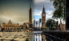 Rome and London http://www.areacoworking.it/2014/02/26/start-up-in-italia-e-nel-regno-unito-analogie-e-differenze/