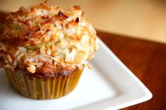 Banana Coconut Muffins with Lime Glaze via Alaska from Scratch