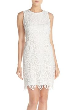 bdffce4bbe4 Adranna Papell Floral Lace Shift Dress available at  Nordstrom Lace Sheath  Dress