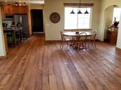 Nice picture submitted from a customer in Wyoming. Pictured here is our Mountain Collection Doug Fir flooring in our Yellowstone color.