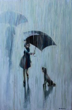Umbrella for two .   2011   Oil painting printed on canvas(poster prints,poster boards)   16x20   87.00