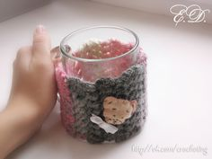 #crochet #cup #cozy by Elena Daniliuk (Odessa, Ukraine) official page - www.vk.com/crocheting