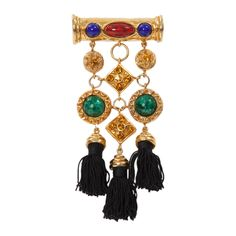 Christian Lacroix Tassels Brooch | From a unique collection of vintage brooches at https://www.1stdibs.com/jewelry/brooches/brooches/