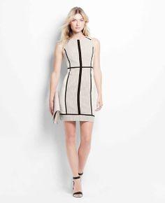 Petite Median Tweed Sheath Dress | Ann Taylor