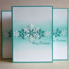 New diy christmas cards handmade snowflake Ideas Diy Christmas Snowflakes, Snowflake Cards, Christmas Card Crafts, Homemade Christmas Cards, Stampin Up Christmas, Christmas Cards To Make, Homemade Cards, Holiday Cards, Stamped Christmas Cards