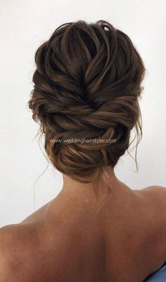 Updo braided updo simple updo bridal hair back swept updo  #brown hairstyle #easy #foiled