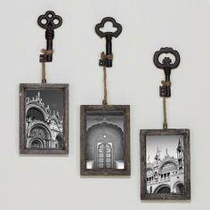 I love these! Sophie Vintage Key Frame, Set of 3
