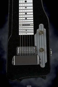 "Lap Steel Guitar with Mahogany Body, 28-fret Neck, 22.5"" Scale Length, and 1 x Single-coil Pickup - Black Sparkle"