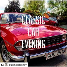 #Repost @bullsheaddenby with @repostapp  1 week to go until our classic car evening on Tuesday the 2nd of May starting at 6pm. Remember to bring down your classic car or if you don't have one you're welcome to come have a look and book a table for 2 for 1 pizzas from 5pm. #bullsheaddenby #classiccars #triumphstag #pubfood #may