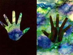 Teach watercolor and positive and negative space
