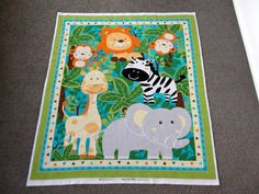 Hey, I found this really awesome Etsy listing at https://www.etsy.com/listing/234076110/jungle-animal-fabric-panel-nursery-cot
