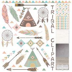 Imágenes Prediseñadas tribales pizarra plumas carpas tipi