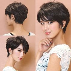 Best Short Haircuts and Hairstyles for Beautiful Women, hairstyles for short hair Hairstles models 2019 new trrend hairstyles , Short Layered Haircuts Fine Hair Source by eileenwlewi., hairstyles for short hair, Short Hairstyles For Thick Hair, Short Layered Haircuts, Best Short Haircuts, Short Hair Cuts, Curly Hair Styles, Haircut Short, Pixie Cuts, Hair Styles Short Women, Short Hair Back