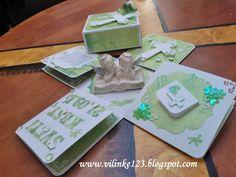 Vilinke handmade: TEO exploding box for christening