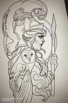 Athena Tattoo, Medusa Tattoo, Arm Tattoo, Aphrodite Tattoo, Tattoo Sketches, Tattoo Drawings, Body Art Tattoos, Art Sketches, Greek Goddess Tattoo