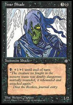 Hoar Shade - Summon Shade - Skull - Black - Ice Age - Magic The Gathering Trading Card