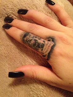 Bear Tattoo, Finger Tattoo, Unique Tattoo