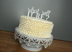 Cake Topper : What will it be Baby Shower by CMSDesignStudio