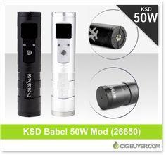 KSD Babel Mod (50W) – Just $43.34: http://www.cigbuyer.com/ksd-babel-26650-50w-mod/ #ecigs #vaping #apv #ksd #vapelife #vapedeals
