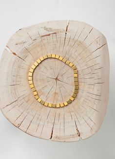 Squares Necklace in Brass - Céline