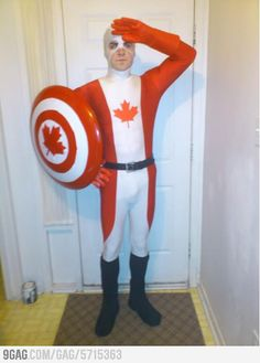 Captain Canada! @Marie-Eve Clermont Lohman can we PLEASE dress one of the boys like this?
