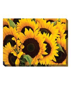 Loving this Sunflowers Wrapped Canvas on #zulily! #zulilyfinds