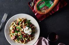 Orecchiette with Cheese Sausage, Snap Peas & Lemony-Ricotta with Mint recipe on Food52