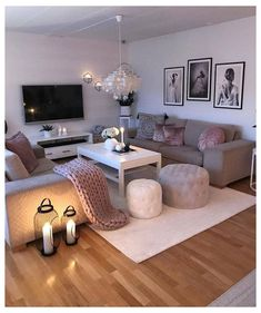 Living Room Ideas 2019, Living Room Goals, Living Room Decor Cozy, Simple Living Room, Beautiful Living Rooms, Living Room Grey, Living Room Inspiration, Living Room Interior, Home Living Room