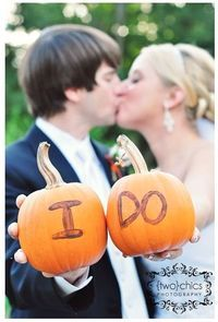 "Fall Wedding. But have white pumpkins or other color that say ""thank you"""