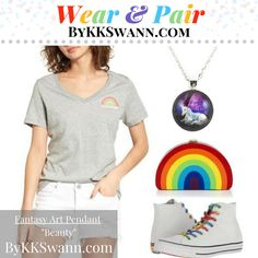 Wear your Fantasy Art Pendants by KK Swann with PRIDE! How do you #WearandPair? Shop Fantasy Art Pendants at bykkswann.com/shop/