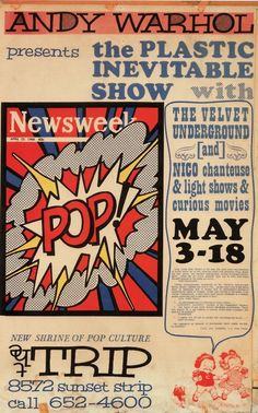 Andy Warhol presents The Plastic Inevitable Show, May 1966/67