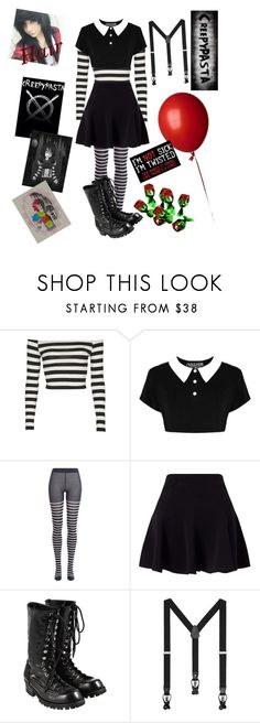 """""""Laughing jack"""" by the-demon-child-in-your-closet ❤ liked on Polyvore featuring Topshop, Killstar, Sonia Rykiel, Miss Selfridge, Comme des Garçons and MANGO"""