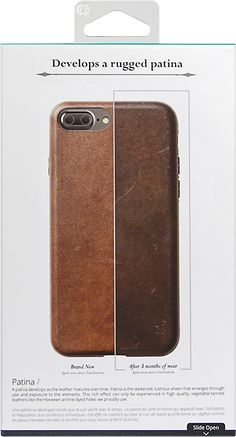 Nomad - Case for Apple® iPhone® 7 Plus - Brown - AlternateView12 Zoom