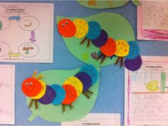 insects...caterpillar craft and writing activity