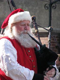 Scottish Santa Photograph  - Scottish Santa Fine Art Print