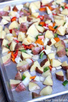 The BEST, roasted, homemade breakfast potatoes!