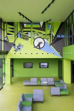 Technopark w Szczecinie. Wykładzina Marmoleum