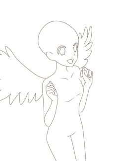 ych base girl angel * angel ych base _ ych bases angel _ ych base demon and angel _ ych base girl angel Manga Drawing Tutorials, Anime Drawing Styles, Drawing Templates, Art Drawings Sketches Simple, Cute Drawings, Wings Drawing, Drawing Base, Poses Anime, Drawing Anime Bodies