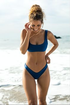 Shop This On-Trend Swimwear Style. Our sports bra style top is effortless and chic - the perfect blend of comfort and style. Made with elastic so the top stays put when you play! Made in California.