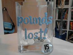 Weight loss Motivational Jar, Pounds Lost Jar