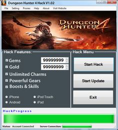 Dungeon Hunter 4 Hack Tool