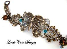 FRIENDS in ART: Butterfly Bracelet with Vintaj